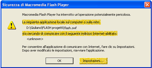 sicurezza flash player